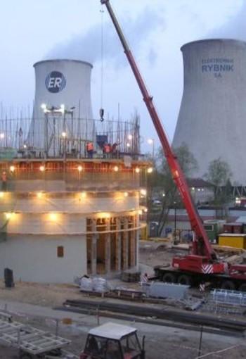 Prace modernizacyjne przy elektrowni Rybnik.